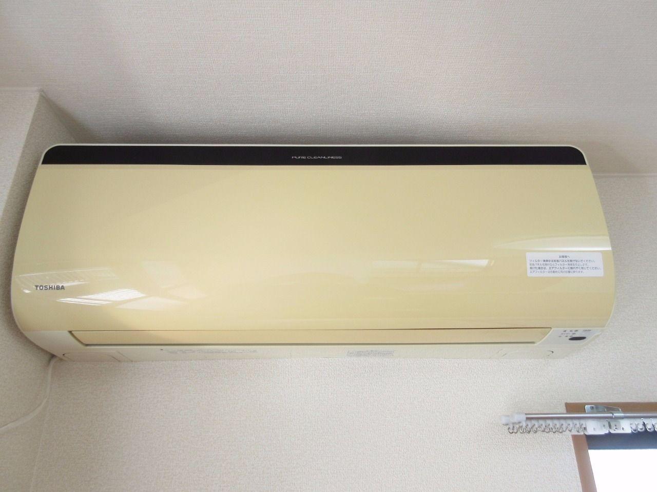通常のものよりも大きいタイプのエアコンが付いているので、14帖のLDKでも快適に使用できます