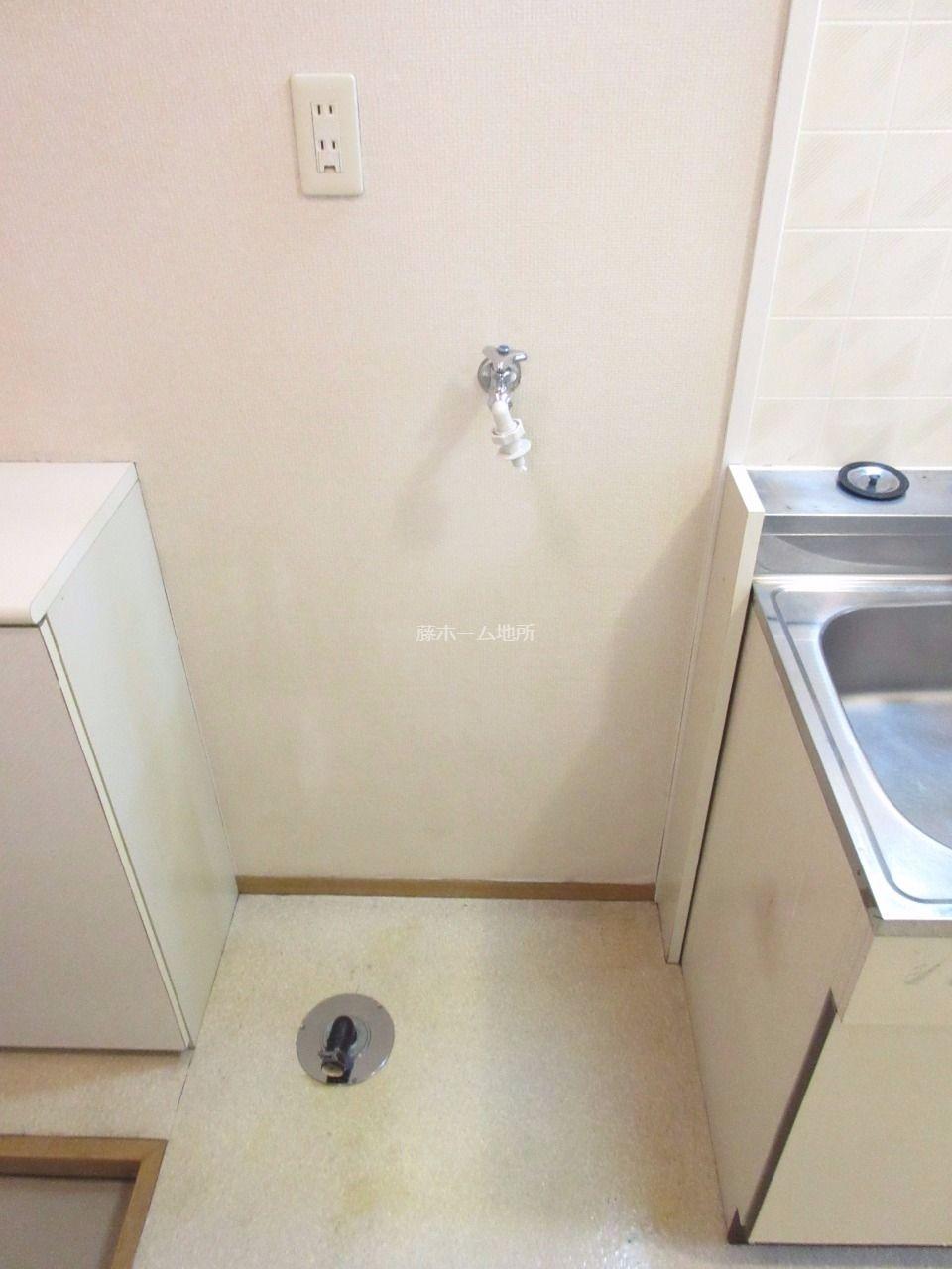 室内に置けるので、日差しや雨による洗濯機の劣化が防げます