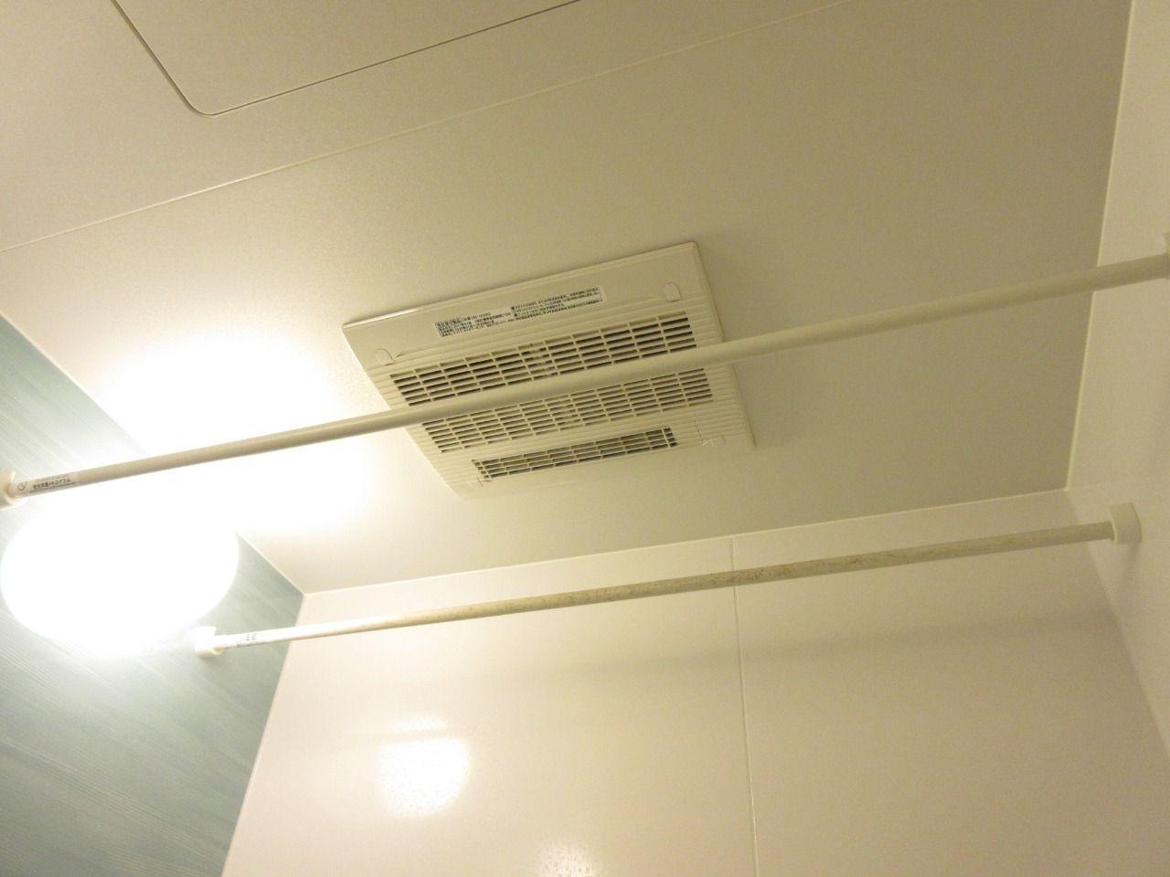 浴室乾燥機付で雨の日でも楽々お洗濯