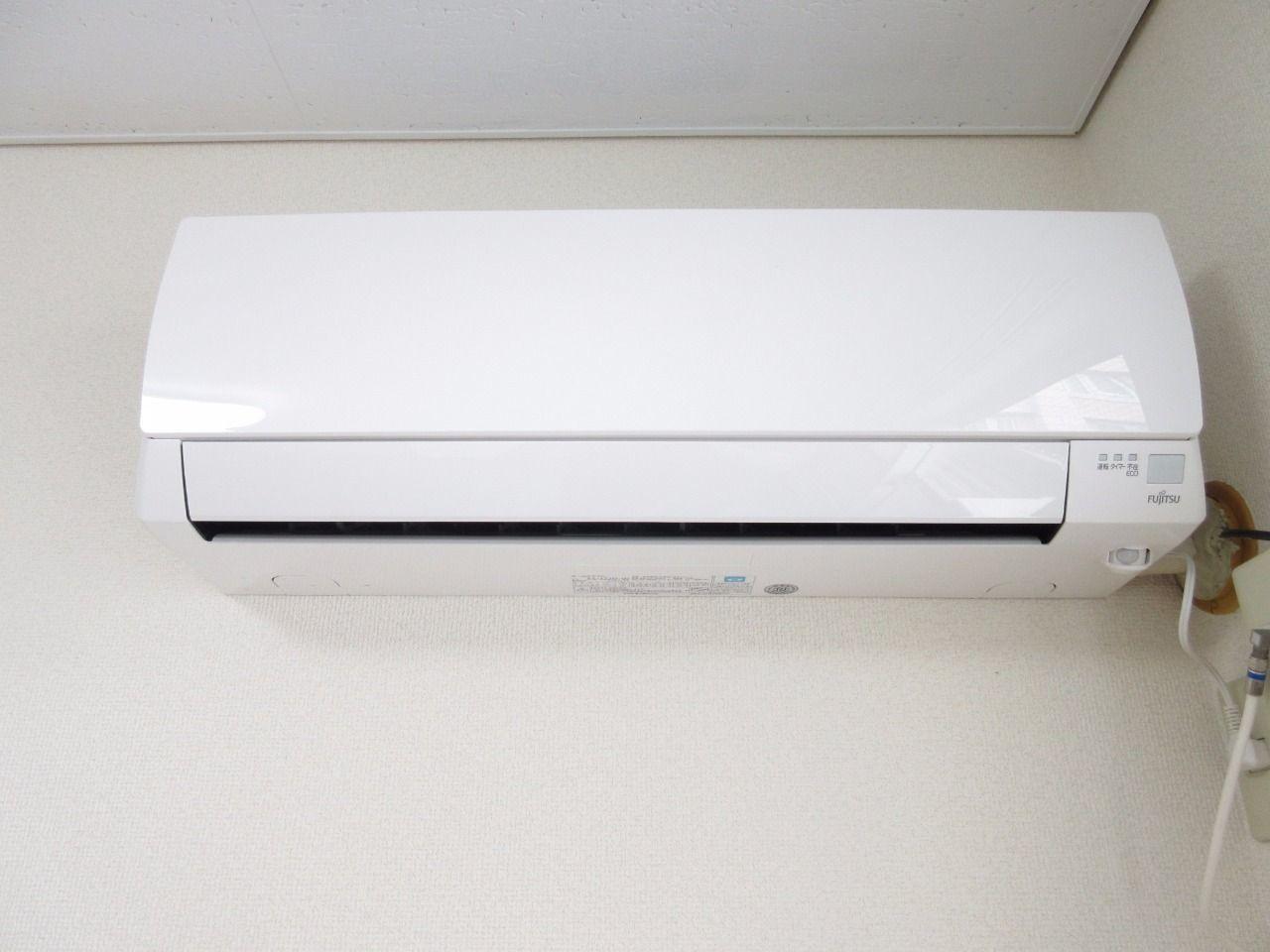 快適な空間を創るエアコンを標準装備(2015年富士通ゼネラル製)