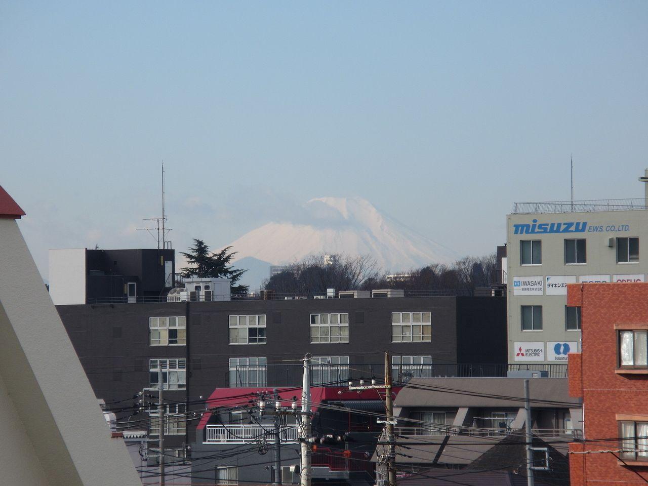 天気の良い日には、南側のバルコニーから富士山が見えます