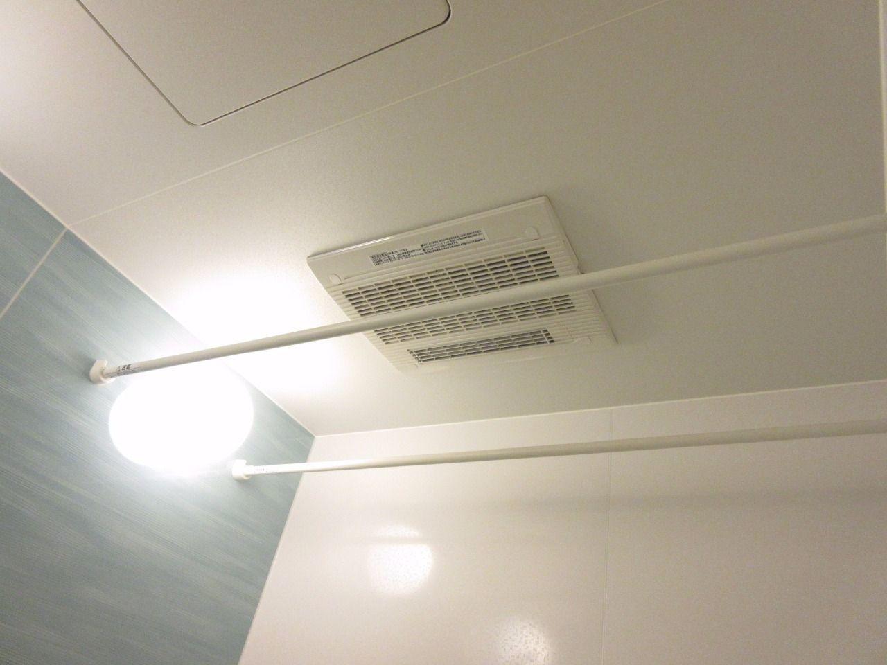 雨の日も洗濯物に困らず、浴室の湿気を除去