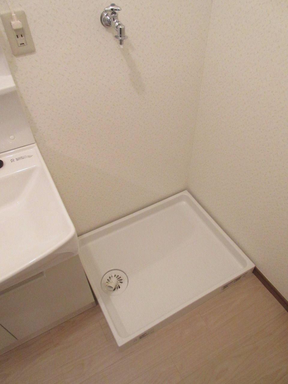 新品の未使用です。洗濯機から漏れた水が、下階に行かないように防ぎます
