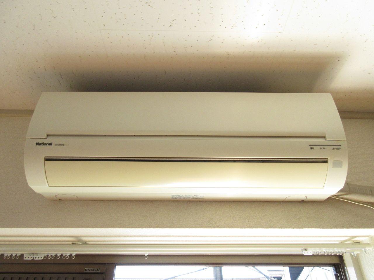 快適な空間を創るエアコンを標準装備