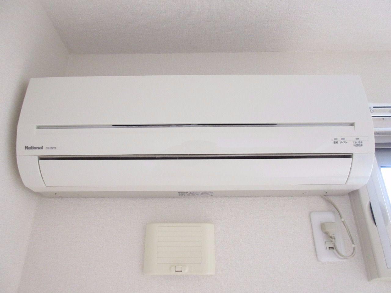 快適な空間を創るエアコンを標準装備(パナソニック製)