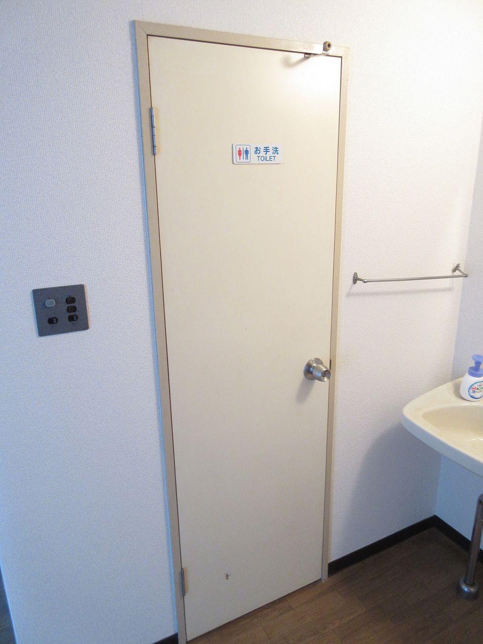 みなさまこんにちは。 今回はこちらのトイレの扉を新規に作って交換してみたいと思います。 扉の交換と聞くと難しい感じはしますが、今までの経験を活かせば意外とできてしまうのではないかと思ったので挑戦します。