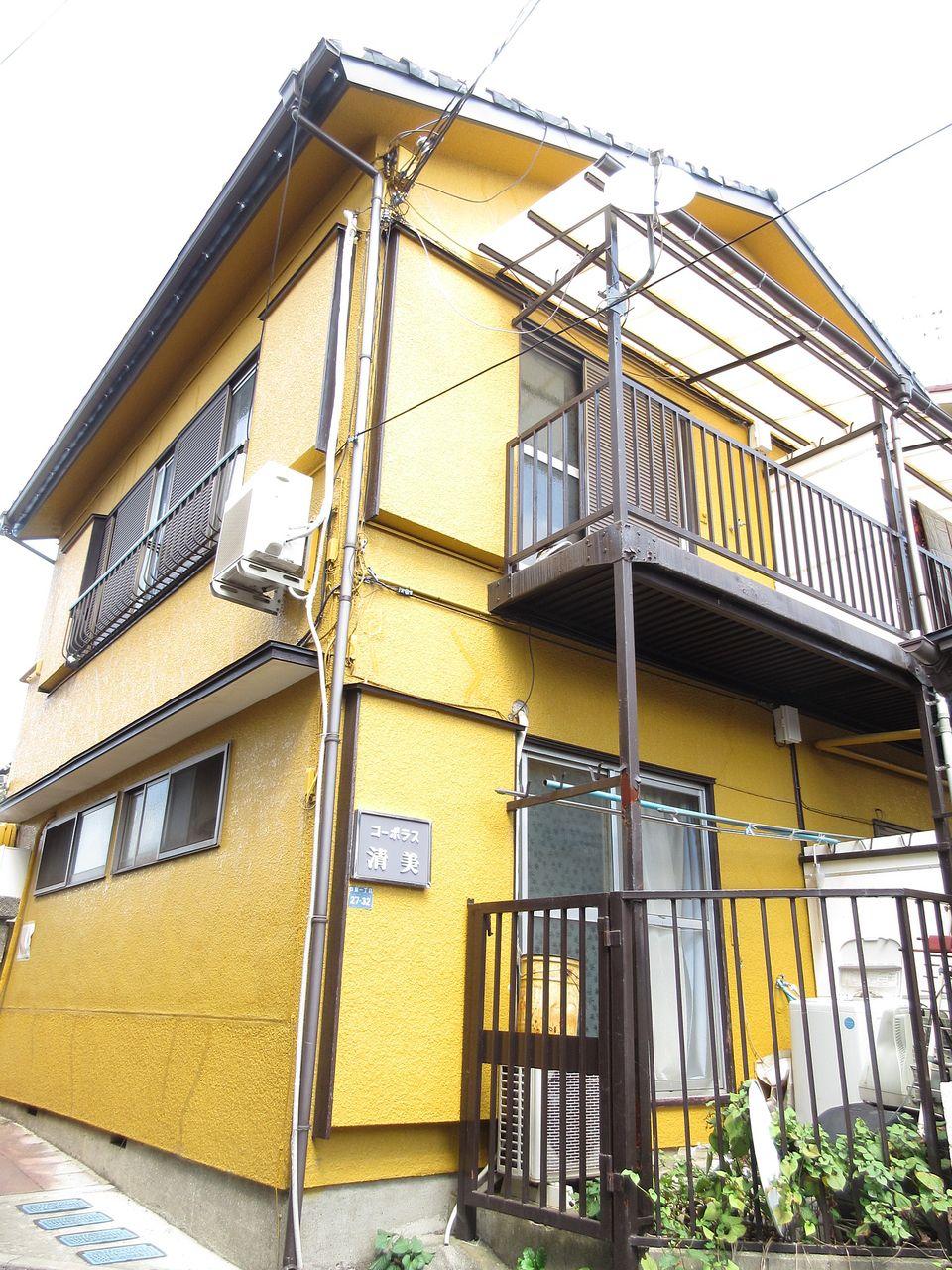 【板橋区四葉の賃貸アパート】~黄色い建物が目印です!・コーポラス清美202号室~
